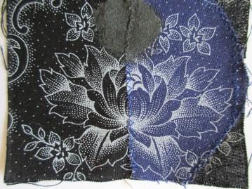 Flower Wars - Black&Blue (Cotton)