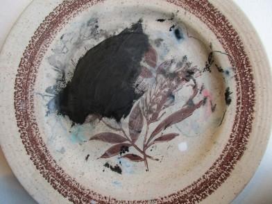 Flower Wars - painted plate