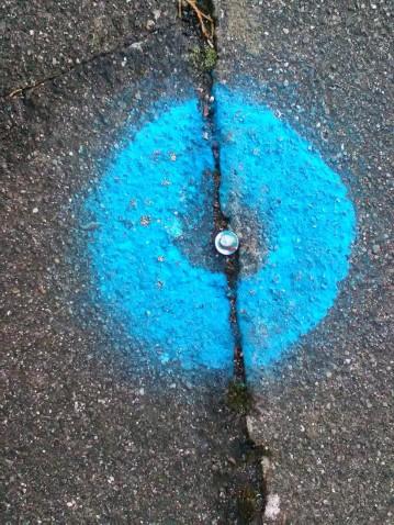 Sprayed paint circle