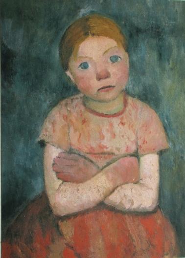 Sitzendes Maedchen mit verschraenkten Armen, Paula Modersohn-Becker 1876-1907