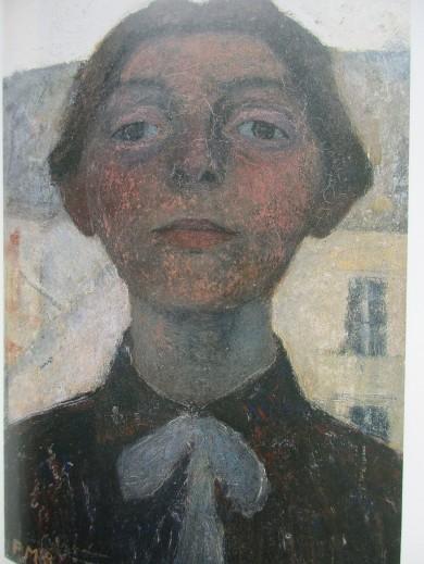 Paula Modersohn-Becker, Self-portrait seen from the window in Paris, 1900